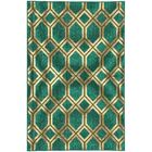 Seaside Teal & Green Area Rug Rug Size: Rectangle 8'6