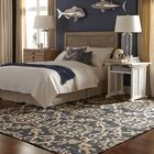 Tommy Bahama Valencia Navy / Beige Floral Rug Rug Size: Rectangle 10' x 13'