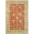 Palace Hand-Knotted Red/Beige Area Rug Rug Size: Rectangle 6' x 9'