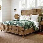 Twin Palms Panel Bed Size: King