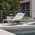 Del Mar Chaise Lounge with Cushion and Table
