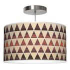 Triangle 2 Drum Pendant Shade Color: Oak / Rosewood, Size: 12