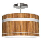 Band Drum Pendant Shade Color: Zebrawood, Size: 11