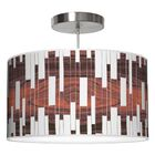Tile 1 Drum Pendant Shade Color: Rosewood, Size: 9