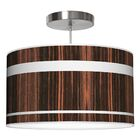 Band Drum Pendant Shade Color: Ebony, Size: 12