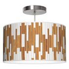Tile 1 Drum Pendant Shade Color: Zebrawood, Size: 9