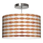 Weave 3 Drum Pendant Shade Color: Mahogany, Size: 11