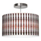 Weave 1 Drum Pendant Shade Color: Rosewood, Size: 11