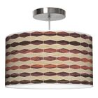Weave 4 Drum Pendant Shade Color: Oak / Rosewood, Size: 12