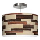 Tile 4 Drum Pendant Shade Color: Oak / Ebony, Size: 11