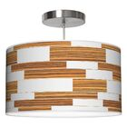 Tile 3 Drum Pendant Shade Color: Zebrawood, Size: 12
