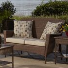 Key Biscayne Loveseat with Cushions Color: Canvas Canvas