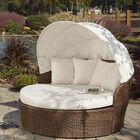 Key Biscayne Patio Daybed with Sunbrella Cushions Color: Spectrum Almond