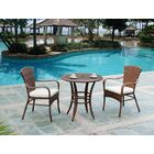 Key Biscayne 3 Piece Bistro Set with Cushions Color: Canvas Camel
