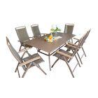 Island Breeze 7 Piece Dining Set Table Size: 62