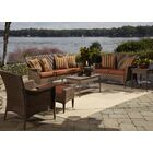 Key Biscayne 5 Piece Sofa Seating Group with Cushions Fabric: Decades Sand