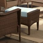 Key Biscayne Outdoor Ottoman with Cushion Fabric: Canvas Spa