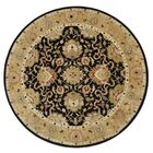 Alliyah Delhi Black Area Rug Rug Size: Round 10'