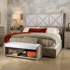 Amina Complete Upholstered Panel Bed Size: Queen