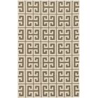 Kerala Cream/Khaki Geometric Rug Rug Size: 5' x 8'