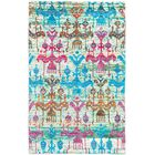 Hand-Knotted Blue/Green/Red Area Rug