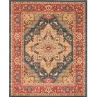 Reinoso Navy/Red Area Rug Rug Size: Rectangle 8' x 10'