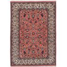 One-of-a-Kind Doby Hand-Knotted Red/Beige Area Rug