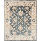 One-of-a-Kind Doggett Hand-Knotted Denim Blue Area Rug