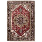One-of-a-Kind Doerr Hand-Knotted Dark Burgundy/Beige Area Rug