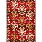 Bonfield Dark Red Area Rug Rug Size: 6'7