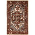 One-of-a-Kind Doerr Traditional Hand Knotted Wool Dark Copper Fringe Area Rug