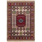 One-of-a-Kind Doering Hand-Knotted Wool Red/Beige Indoor Area Rug