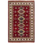 One-of-a-Kind Doering Hand-Knotted Wool Red Indoor Area Rug