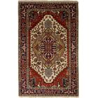One-of-a-Kind Doerr Handmade Wool Red Area Rug