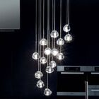 Mizu 15-Light Cluster Pendant Canopy: Rectangle, Finish: Silver