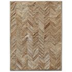 Patchwork Cowhide Yves Wheat Area Rug Rug Size: Rectangle 5' x 7'