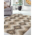 Foulds Machine Woven Synthetic Brown/Ivory Indoor Area Rug Rug Size: Rectangle 5' x 8'
