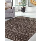 Addie Brown/Ivory Area Rug Rug Size: Rectangle 5' x 8'