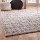 Adamsburg Shag/Flokati Synthetic Ivory/Charcoal Indoor Area Rug Rug Size: Rectangle 5' x 8'