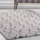 Adamsburg Ivory/Charcoal Area Rug Rug Size: Rectangle 7'10