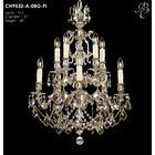 Rosetta 10-Light Candle Style Chandelier Crystal: Precision Crystal French Pendaloque Clear, Finish: Empire Bronze