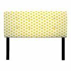 Ali Jojo Upholstered Panel Headboard Upholstery: Yellow, Size: Full