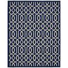 Fretwork Navy/Ivory Area Rug Rug Size: 8' x 10'