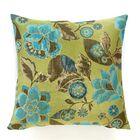 Kauai Throw Pillow Color: Lagoon