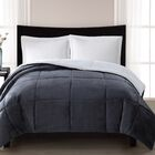 Supreme Heavyweight Comforter Size: Twin, Color: Gray