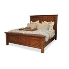 Panel Bed Size: King, Color: Cognac