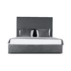 Handley Upholstered Panel Bed Color: Charcoal, Size: High Height Queen