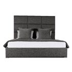Handley Upholstered Panel Bed Color: Charcoal, Size: High Height King