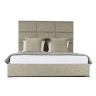 Handley Upholstered Panel Bed Size: Mid Height Queen, Color: Sand