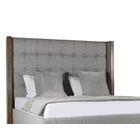 Hank Upholstered Platform Bed Color: Gray, Size: Mid Height King